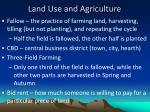 land use and agriculture