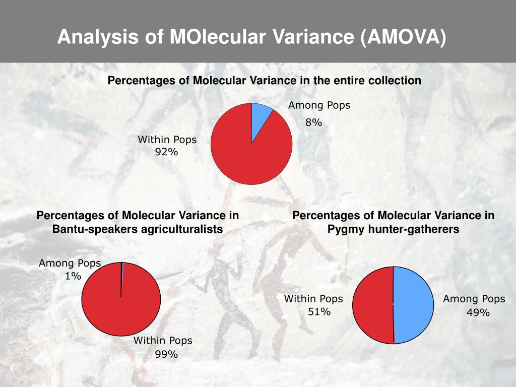 Percentages of Molecular Variance in Bantu-speakers agriculturalists