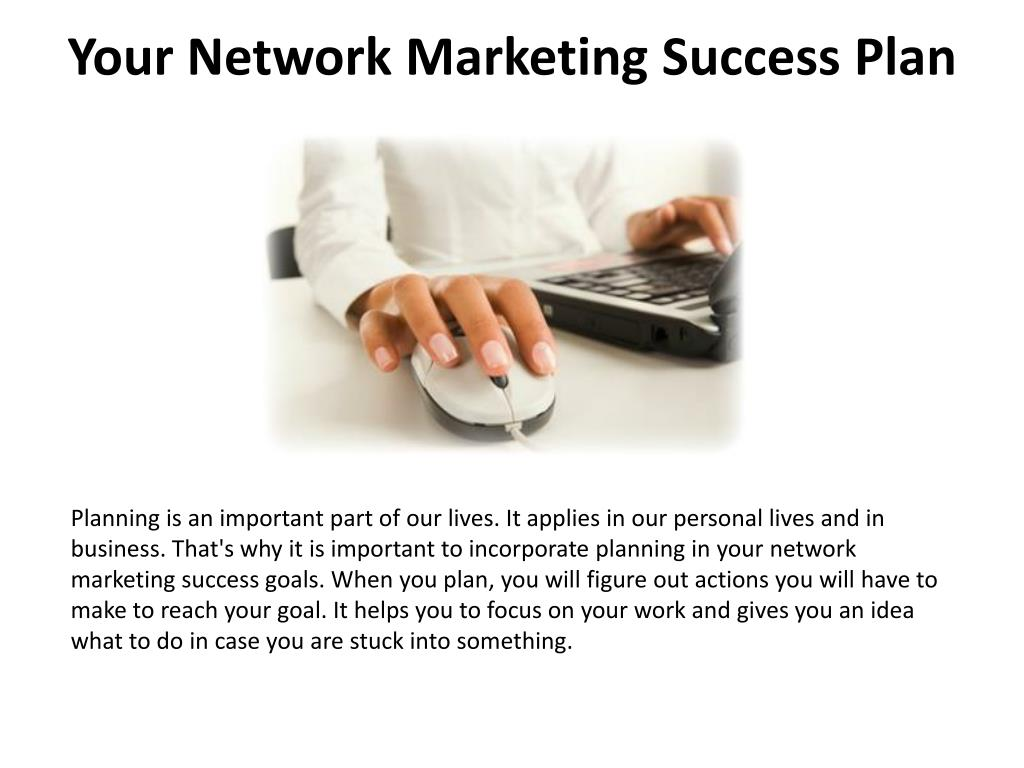 your network marketing success plan l.