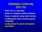 distribution uniformity du