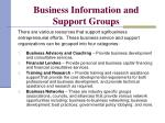 business information and support groups