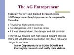 the ag entrepreneur