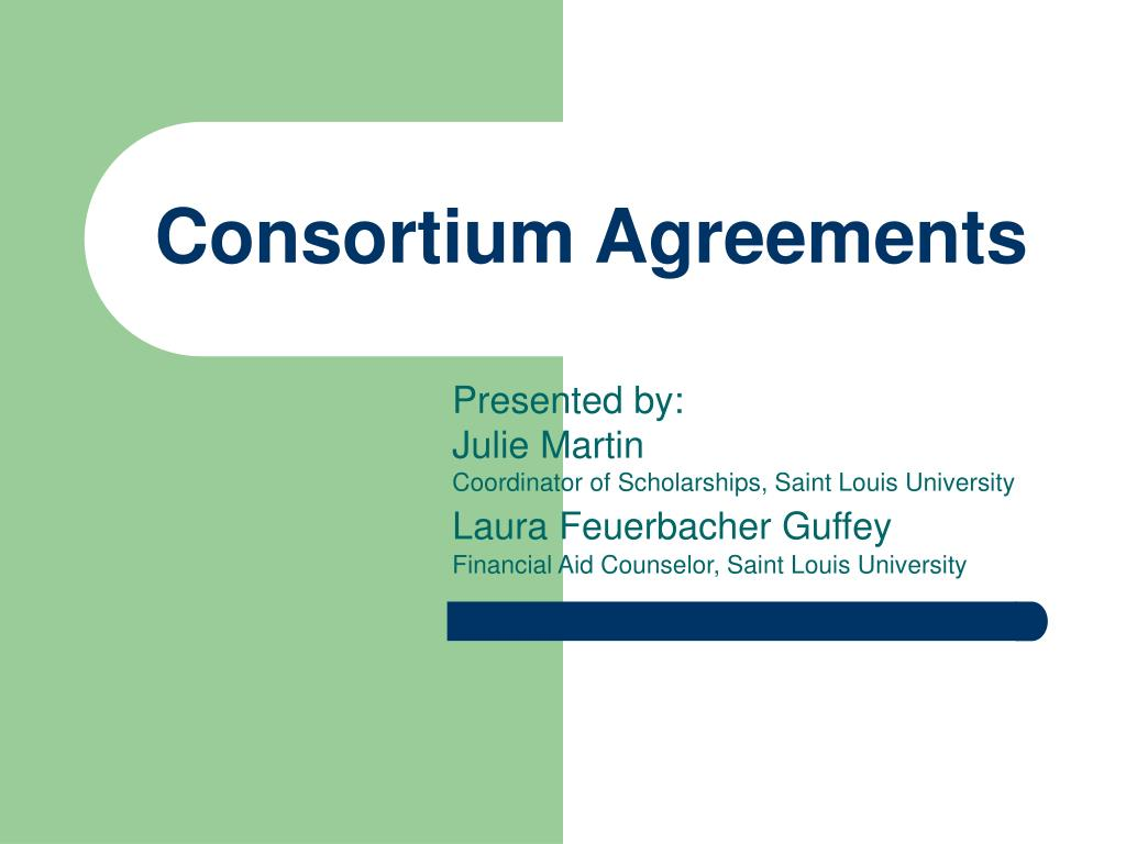 consortium agreements l.