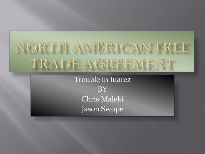 north american free trade agreement n.