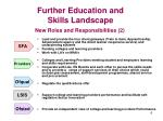 further education and skills landscape6