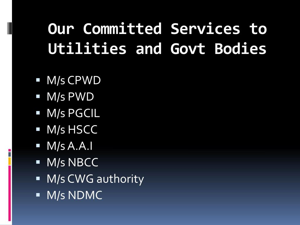 Our Committed Services to Utilities and