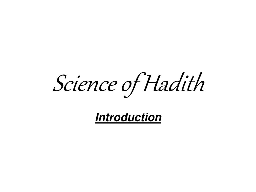 science of hadith l.
