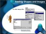 adding shapes and images2