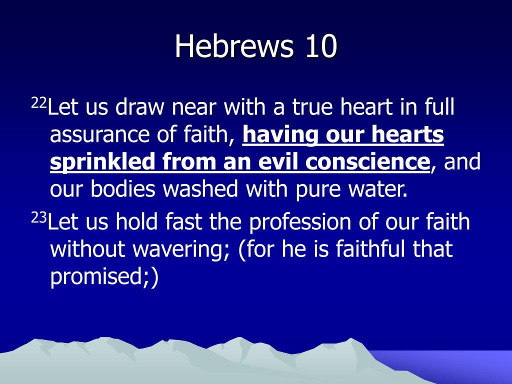 Hebrews 10