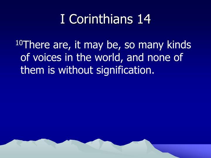 I corinthians 14