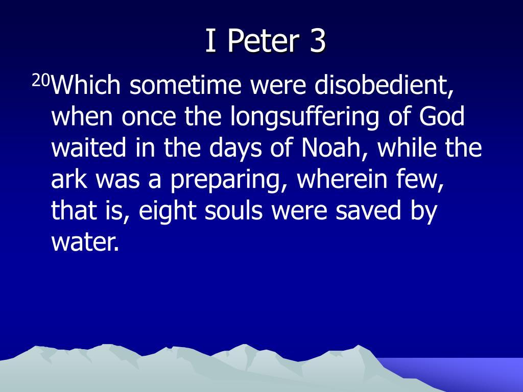 I Peter 3