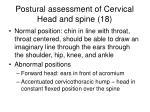 postural assessment of cervical head and spine 18