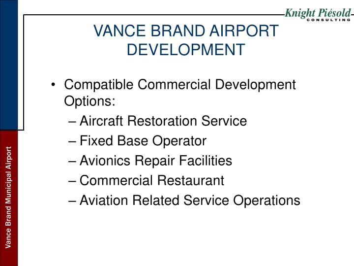 VANCE BRAND AIRPORT DEVELOPMENT