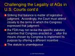 challenging the legality of ags in u s courts cont d3