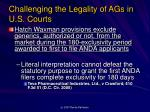 challenging the legality of ags in u s courts