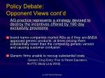 policy debate opponent views cont d1