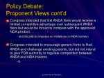 policy debate proponent views cont d