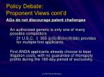 policy debate proponent views cont d1