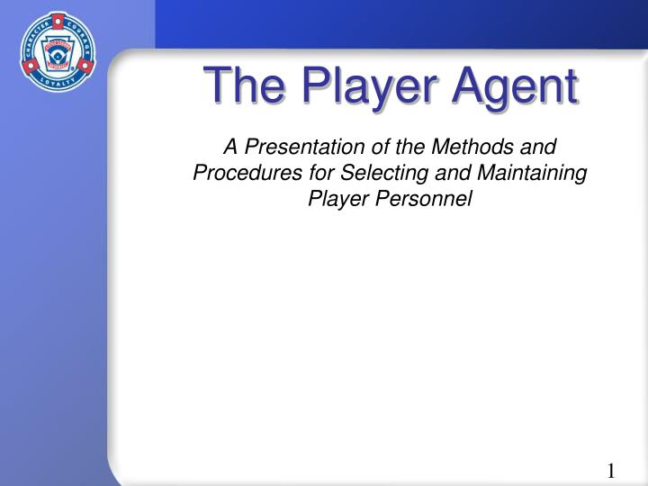 the player agent n.