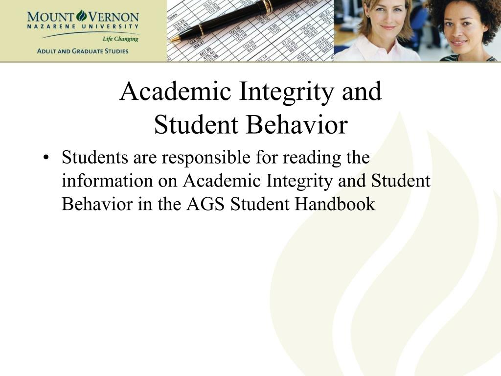 Academic Integrity and