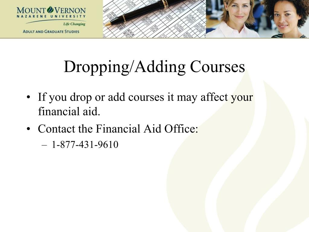 Dropping/Adding Courses