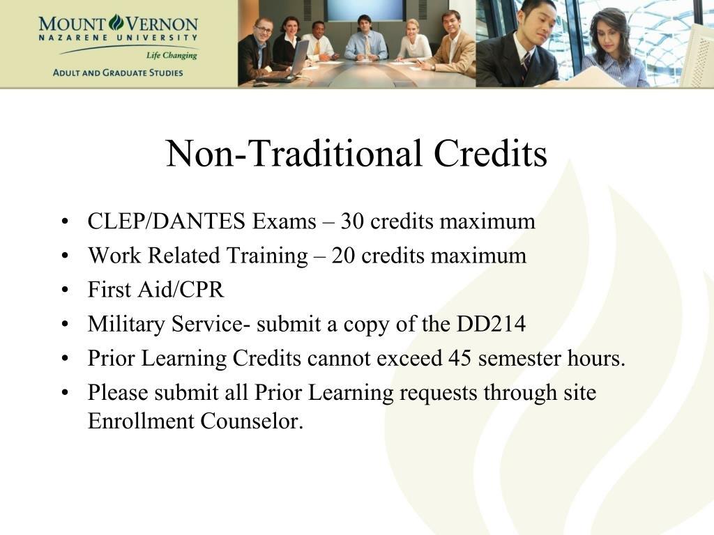 Non-Traditional Credits