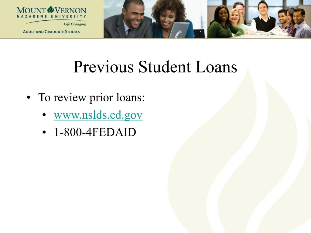 Previous Student Loans