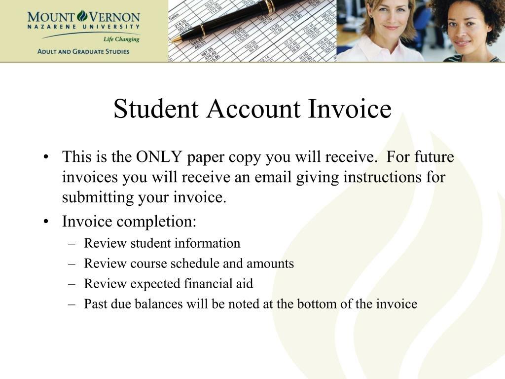 Student Account Invoice