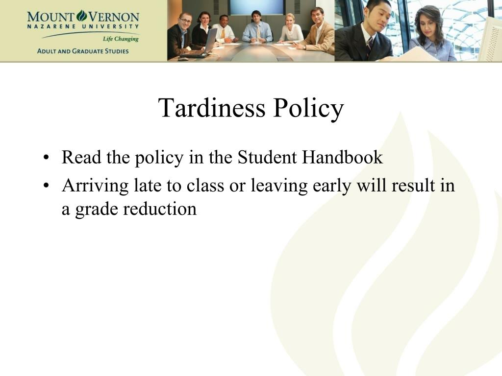 Tardiness Policy