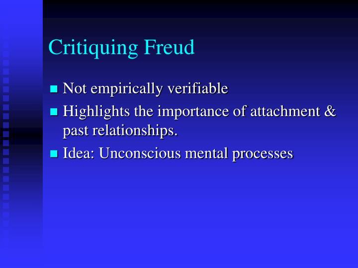 Critiquing Freud