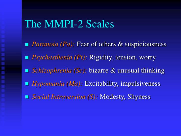 The MMPI-2 Scales