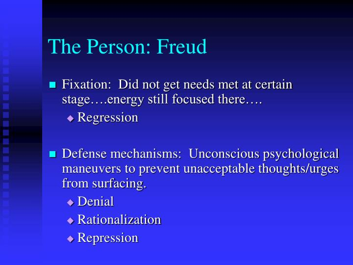 The Person: Freud