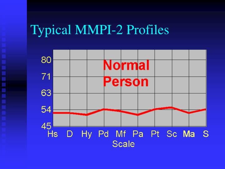 Typical MMPI-2 Profiles