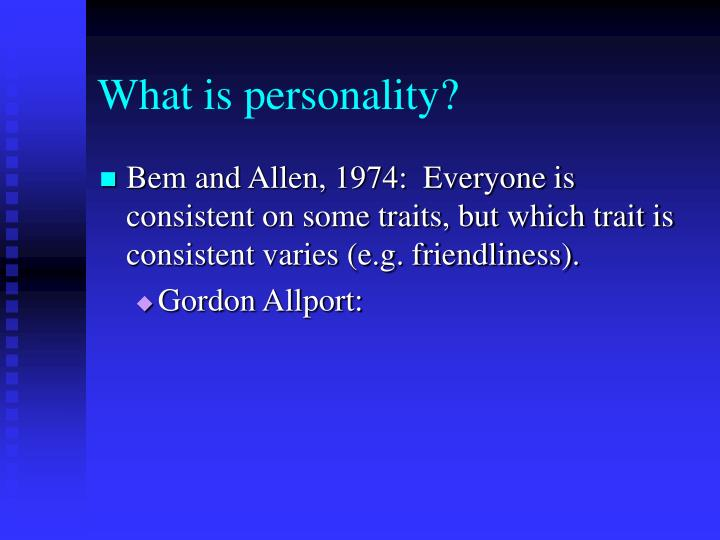 What is personality1