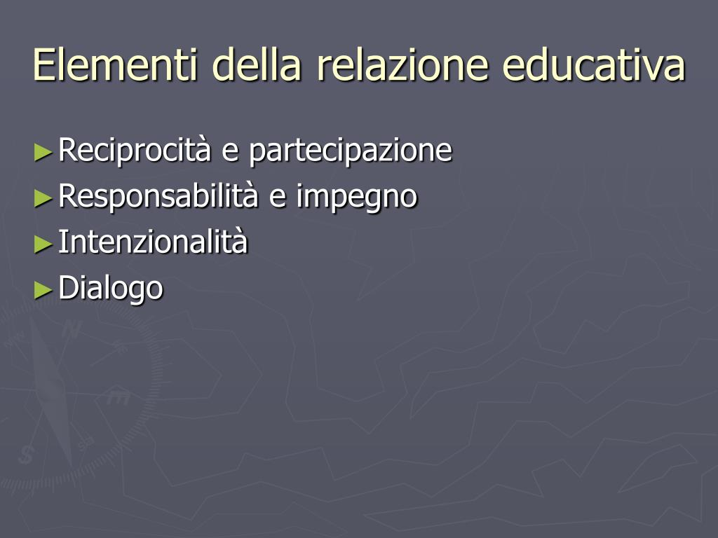 Elementi della relazione educativa