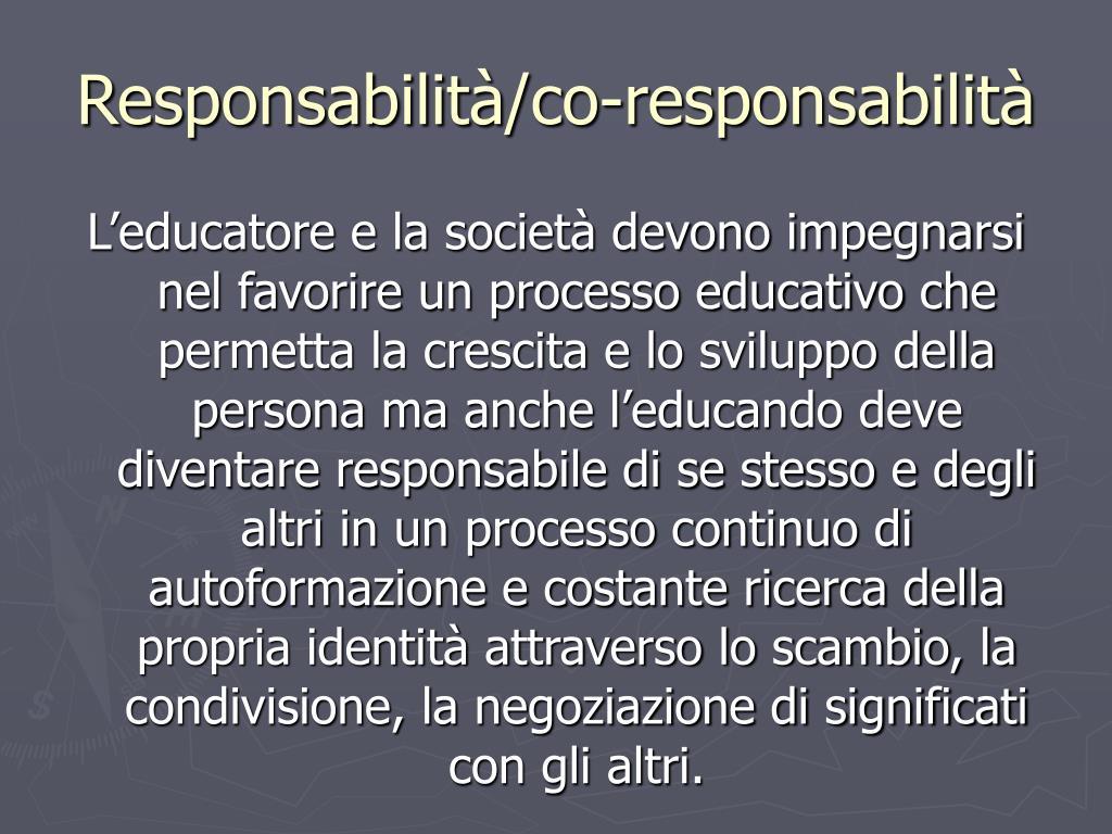 Responsabilità/co-responsabilità