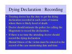 dying declaration recording