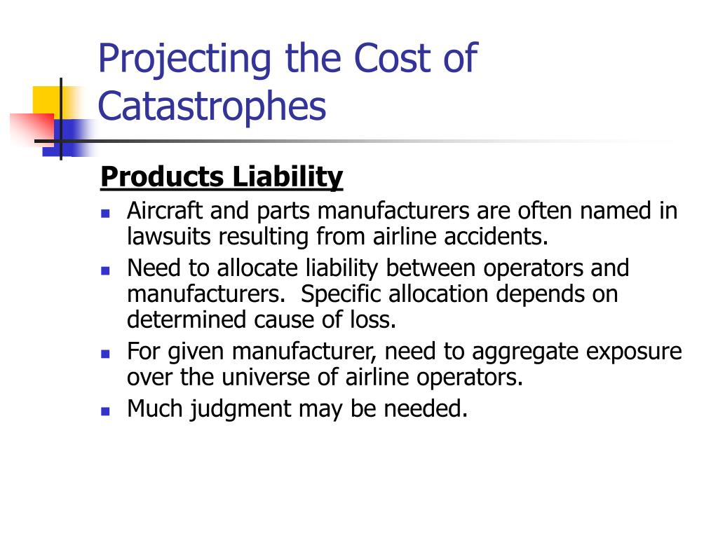 Projecting the Cost of Catastrophes