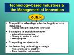 technology based industries the management of innovation