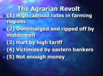 the agrarian revolt