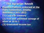the agrarian revolt25