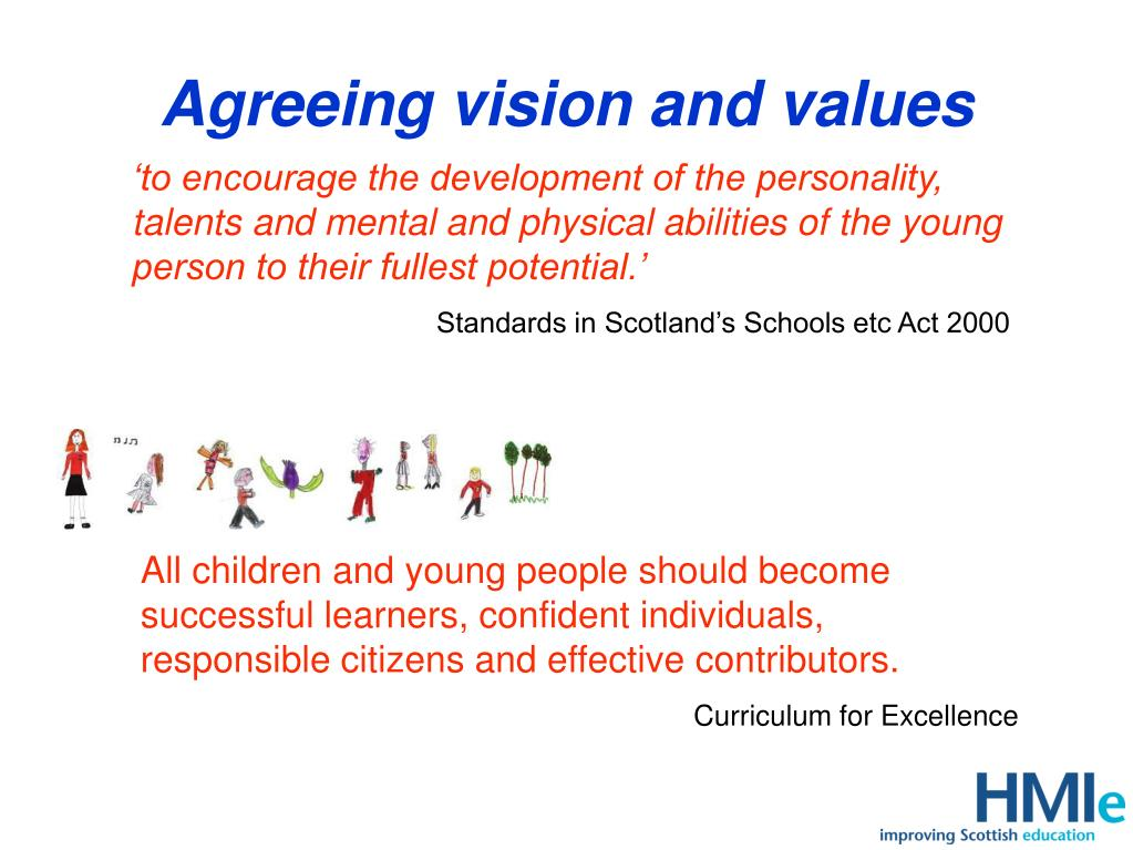 Agreeing vision and values