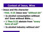 context of jesus wine9