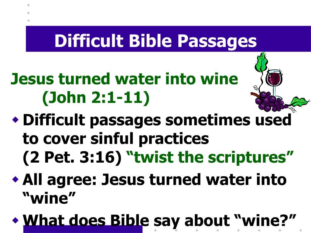 difficult bible passages l.