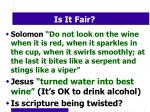 is it fair