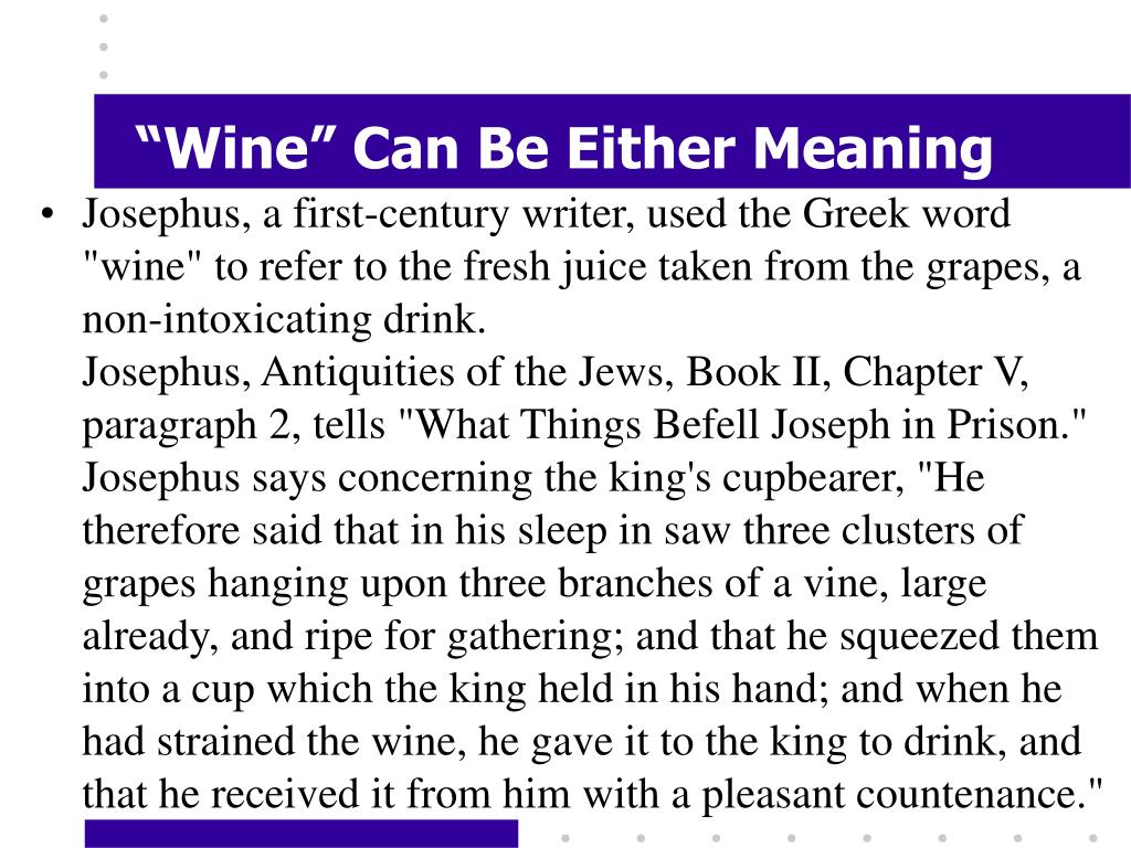 """""""Wine"""" Can Be Either Meaning"""