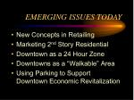 emerging issues today