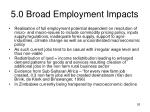 5 0 broad employment impacts26