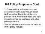6 0 policy proposals cont