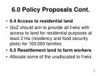 6 0 policy proposals cont31